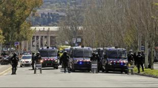 Mossos , protegeixen l'acte de Vox, el març de 2019