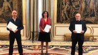Luis Rubiales, Irene Lozano i Javier Tebas