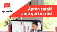 La publicitat promocional de l'aplicació Apparella't