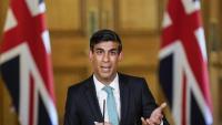 Rishi Sunak, ministre de Finances britànic, durant la seva compareixença informativa d'ahir