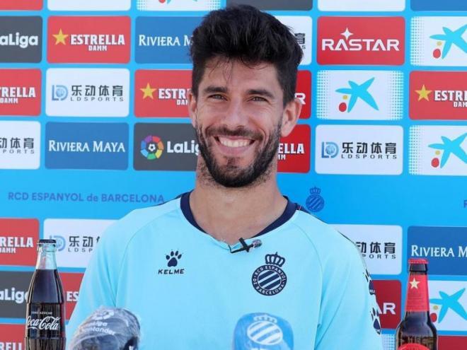 Dídac Vilà ha atès els mitjans oficials del club després de l'entrenament d'aquest matí.