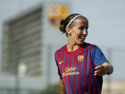Sonia Bermúdez, en la seva època al Barcelona