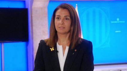 La portaveu del Govern, Meritxell Budó