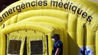 Carpa medicalitzada de SEM per fer testos de covid-19 a Lleida