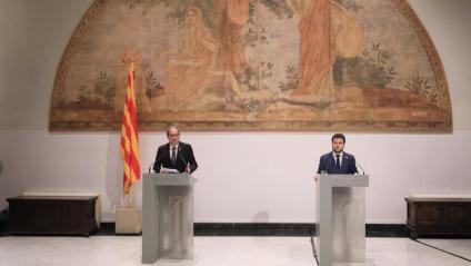 El president Torra i el vicepresident Pere Aragonès