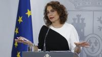 La ministra portaveu, María Jesús Montero, durant una roda de premsa posterior al consell de ministres