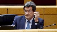 El ministre d'Inclusió, Seguretat Social i Migracions, José Luís Escrivá, durant una intervenció al Senat