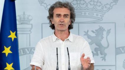 El director del Centre de Coordinació d'Alertes i Emergències Sanitàries, Fernando Simón, durant la roda de premsa d'aquest dimarts