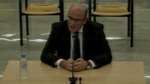 El coronel Pérez de los Cobos durant la seva declaració a l'Audiència Nacional