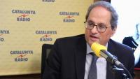 Quim Torra, president del Generalitat de Catalunya entrevistat a Catalunya Ràdio