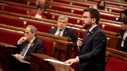 El vicepresident Pere Aragonès, al Congrés