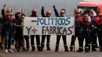 Treballadors de la factoria Alcoa es manifesten a Lugo en protesta per l'acomiadament de 530 persones