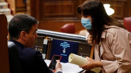 Sánchez rebia ahir la visita a l'escó de la portaveu de JxCat al Congrés, Laura Borràs, per conversar amb ell