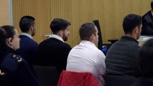 Els quatre membres de La Manada , durant una sessió del judici pel cas de Pozablanco, el 2019