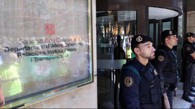 Escorcoll de la Guàrdia Civil al Departament d'Exteriors, el setembre del 2017