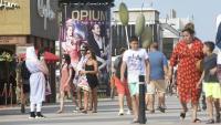 Zona de locals d'oci a la zona del Port Olímpic de Barcelona