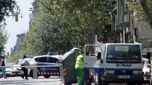 El contenidor<b> del carrer València de Barcelona on va ser trobat part del cos del veí de Blanes</b>