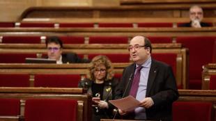 El primer secretari del PSC, Miquel Iceta, al Parlament
