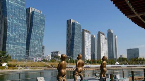 <b>EL FUTUR, ARA </b>Songdo, a Corea del Sud, es va començar a construir des de zero l'any 2002.