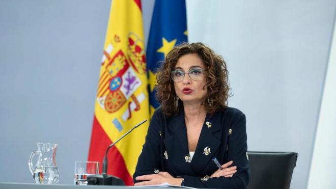 La ministra portaveu, María Jesús Montero, ahir després del Consell de Ministres