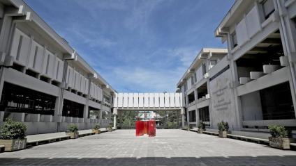 El campus de la UAB, ahir