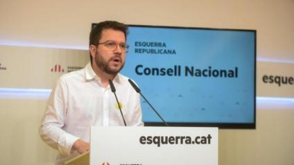 El coordinador nacional d'ERC i vicepresident del Govern, Pere Aragonès