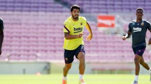Suárez en l'entrenament d'avui