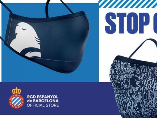 L'Espanyol ha posat a la venda les seves mascaretes oficials a les seves botigues.