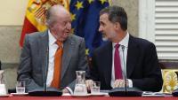 Joan Carles de Borbó amb el seu fill, Felip VI, el 2019