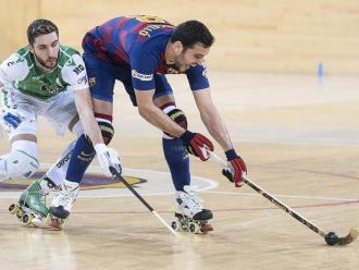 Acció del partit Barça-Liceo entre Bargalló i Di Benedetto