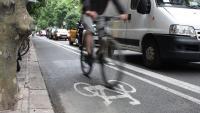 Imatge d'un carril bici de Barcelona