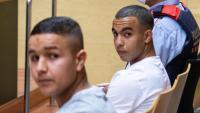 Els dos joves gironins, durant el judici