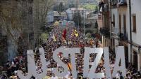 Manifestació a Altsasu de rebuig a la condemna dictada contra els joves de la població i per reclamar justícia, el 2019