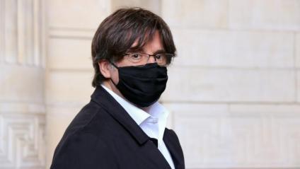 Puigdemont, al Palau de Justícia de Brussel·les, el 23 de juny