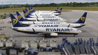 Avions de Ryanair aturats a l'aeroport de Stansted, al Regne Unit