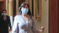 Laura Borràs (JxCat) el dia que va anar a la junta de portaveus del Congrés per defensar-se