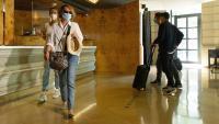 Clients en un dels hotels de Barcelona