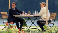 La trobada bilateral entre Angela Merkel i Emmanuel Macron, al juny