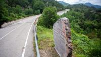 Una imatge del pont fronterer del riu Major, aquesta setmana passada