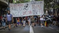 Manifestació contra de l'empresonament del raper lleidatà Pablo Hasel a Barcelona