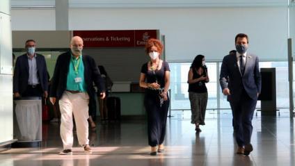 El vicepresident del Govern, Pere Aragonès, en una visita a l'aeroport de Barcelona-El Prat