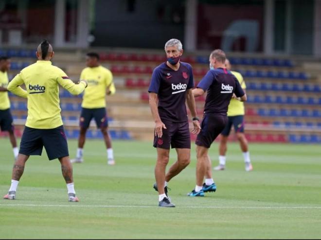 El tècnic del Barça no es va mullar excessivament sobre alguns temes