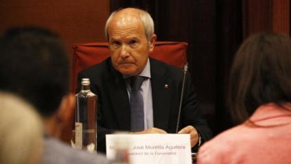 L'expresident José Montilla al Parlament