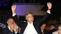 Andrej Plenkovic, primer ministre de Croàcia, celebra el seu triomf en les eleccions de diumenge