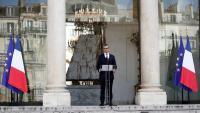 El secretari general del Palau de l'Elisi, Alexis Kohler, anunciant el nom dels ministres