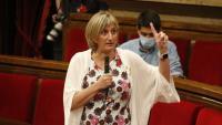 La consellera Alba Vergés, en la sessió de control d'ahir al Parlament