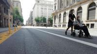 Un avi per la Via Laietana, un dels dies de tancament