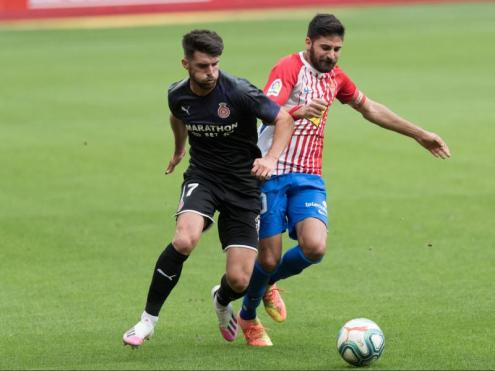 Calavera , en l'últim Girona-Sporting