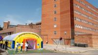 L'espai habilitat al recinte de l'hospital Arnau de Vilanova