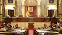 Imatge de l'hemicicle del Parlament aquesta setmana